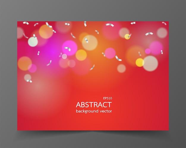 Resumen luces de navidad en el fondo para la tarjeta de felicitación