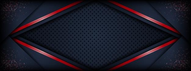 Resumen de lujo 3d oscuro con fondo de capa de superposición