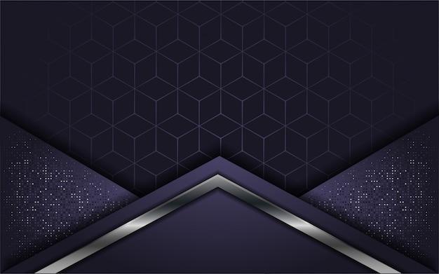 Resumen de lujo púrpura con capa superpuesta