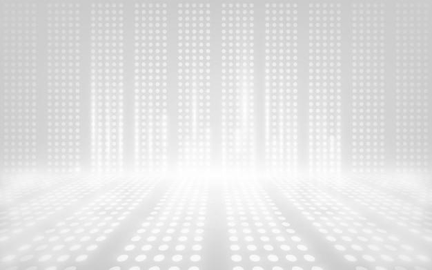 Resumen luz blanca escena vacía, luz de reflector de neón blanco.