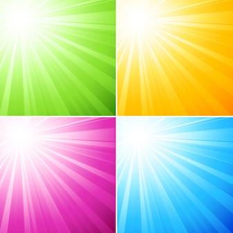 Resumen luz de fondo soleado