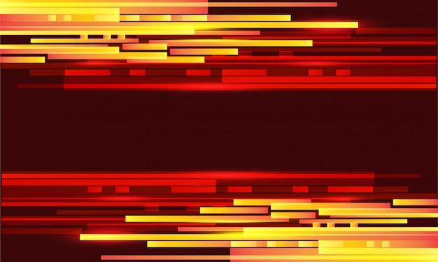 Resumen luz roja amarilla geométrica con espacio en blanco diseño futurista moderno.