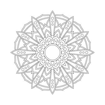 Resumen mandala arabesco para colorear ilustración del libro de la página. camiseta . fondo de papel tapiz floral