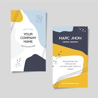 Resumen memphis pintado tarjeta de visita