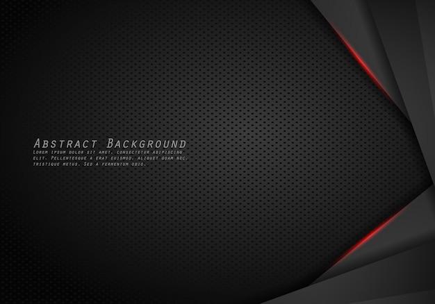 Resumen metálico moderno marco negro rojo diseño innovación concepto diseño fondo.