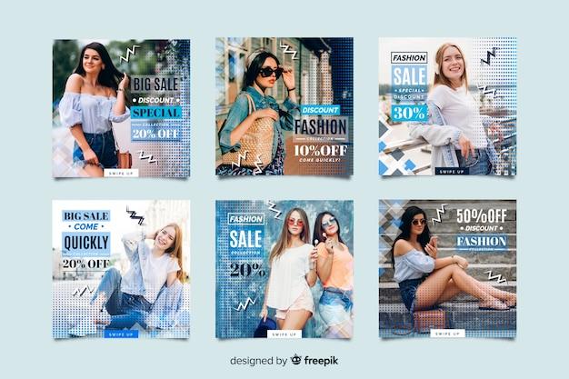 Resumen moda venta instagram post colección