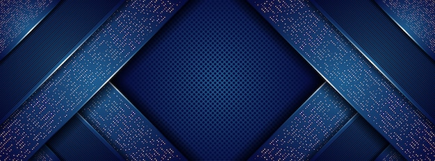 Resumen moderno azul oscuro real con fondo de capas superpuestas