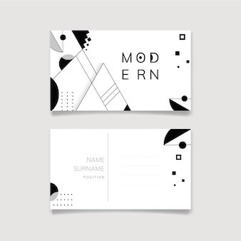 Resumen moderno conjunto de plantillas en blanco y negro