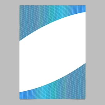Resumen moderno degradado colorido curvado página patrón de cuadrícula, plantilla de folleto