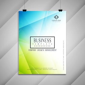 Resumen de negocios folleto diseño de plantillas geométricas