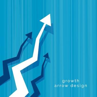 Resumen de negocios vector flecha de diseño de fondo