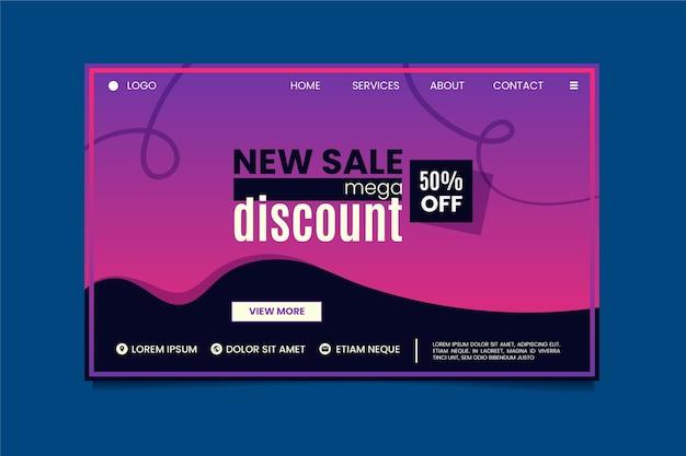 Resumen nueva página de inicio de venta