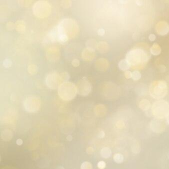 Resumen de oro brillo desenfocado bokeh de fondo. plantilla de navidad. luces navideñas.