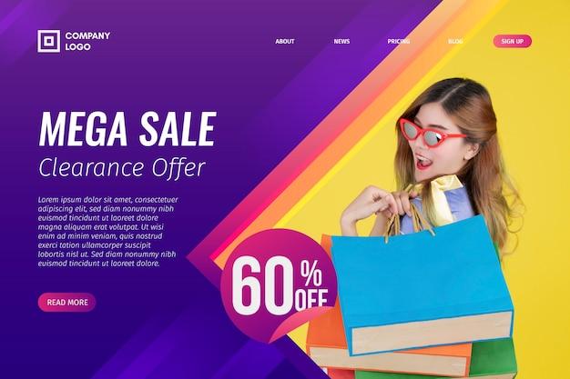 Resumen página de aterrizaje de ventas con foto