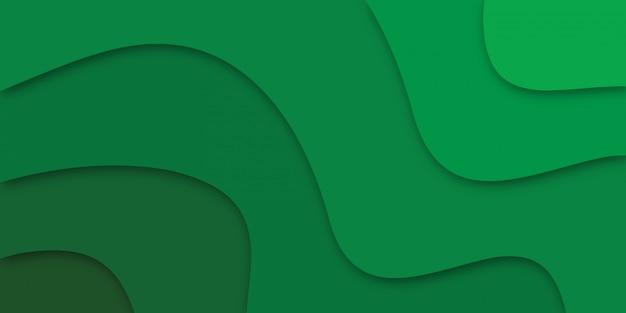 Resumen papel cortado verde.