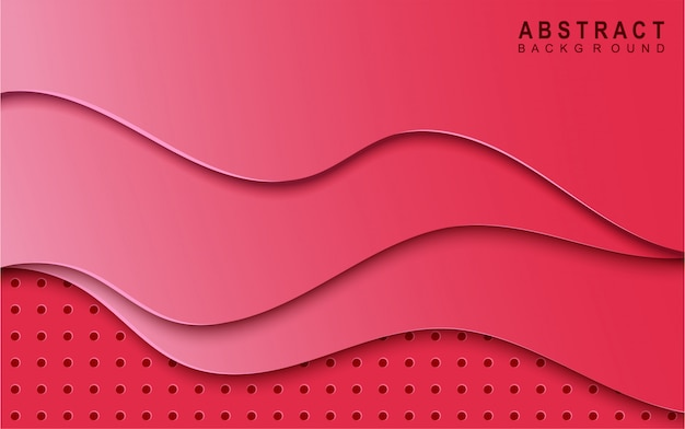 Resumen papel rosa cortado fondo limo