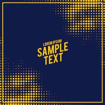 Resumen patrón de semitonos azul y amarillo