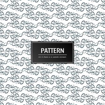 Resumen patrón floral elegante fondo
