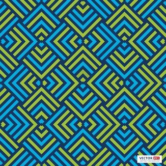 Resumen patrón geométrico con líneas, rombos un fondo de vector transparente. azul verde
