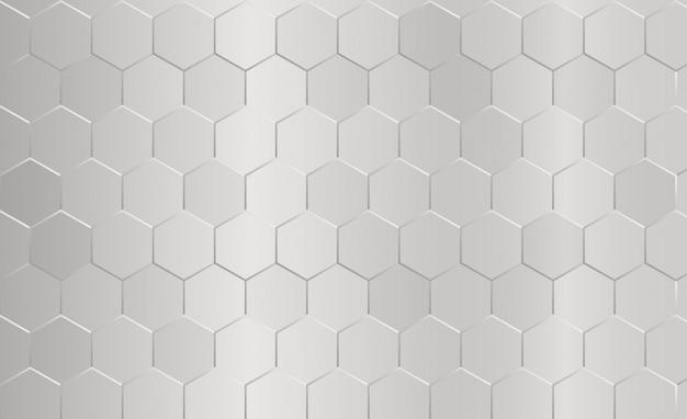 Resumen patrón hexagonal fondo gris.