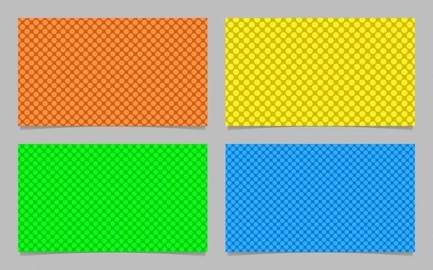 Resumen patrón de puntos de tarjetas de visita de fondo plantilla de diseño conjunto - tarjeta de identificación de gráficos vectoriales