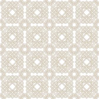Resumen de patrones sin fisuras asiático con nudos celtas