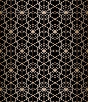 Resumen de patrones sin fisuras en estilo kumiko japonés.