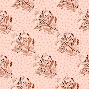 Resumen de patrones sin fisuras con siluetas de ramo de flores étnicas contorneadas