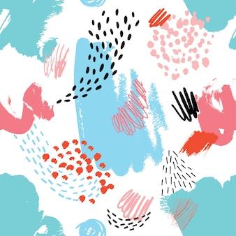 Resumen de patrones sin fisuras con texturas dibujadas a mano