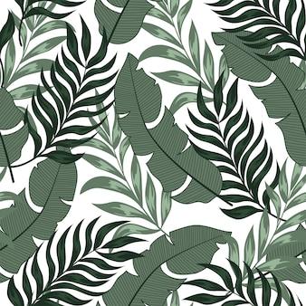 Resumen de patrones tropicales sin fisuras con coloridas plantas y hojas