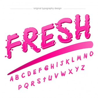 Resumen pink splash and droplets typography