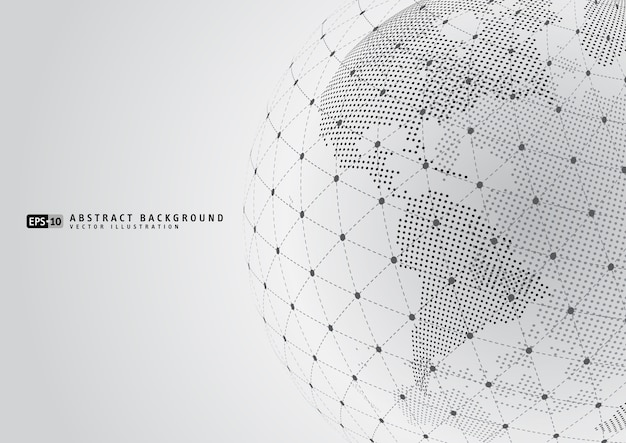 Resumen planeta tierra con sphare wireframe