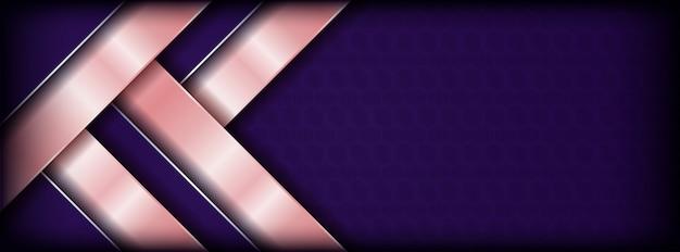 Resumen púrpura con fondo de banner de superposición rosa