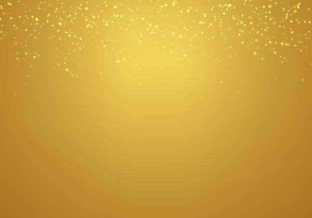Resumen que cae oro brillo fondo degradado de oro