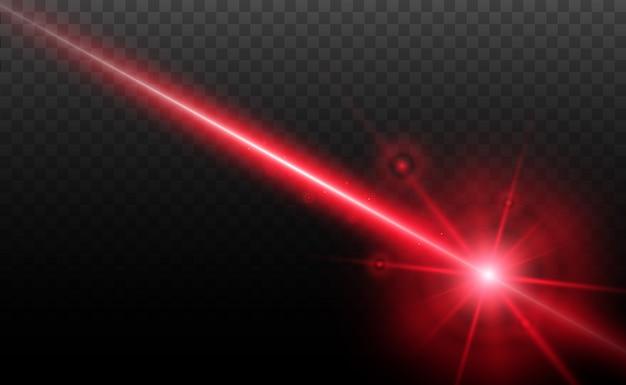 Resumen rayo láser. transparente aislado sobre fondo negro.