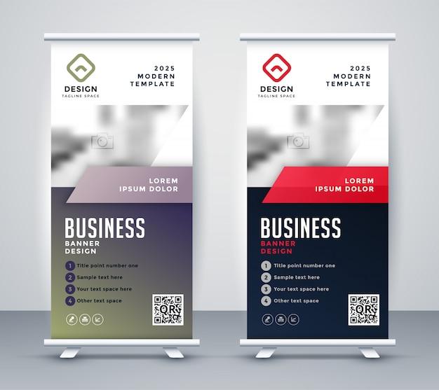Resumen roll up banner standee para presentación de negocios