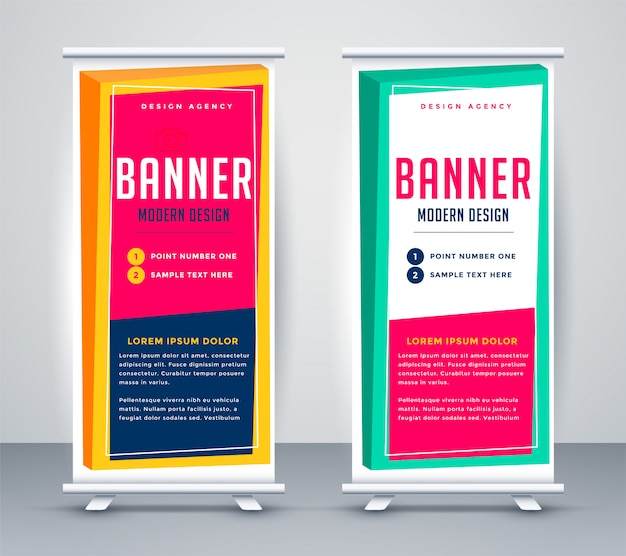 Resumen rollup banner de presentación de negocios