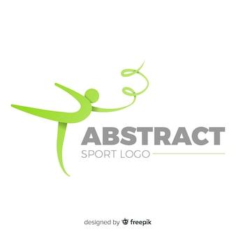 Resumen silueta deporte logo diseño plano
