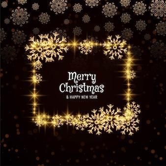 Resumen tarjeta brillante feliz navidad