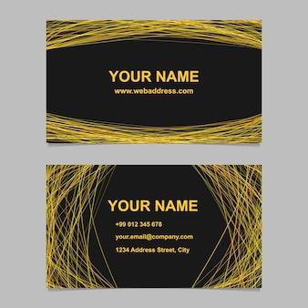 Resumen tarjeta de presentación conjunto de diseño de la plantilla - ilustración vectorial de la tarjeta corporativa