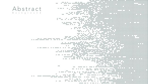 Resumen tecnología digital de datos de píxeles cuadrados