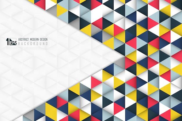 Resumen tecnología futurista triángulo de patrones sin fisuras