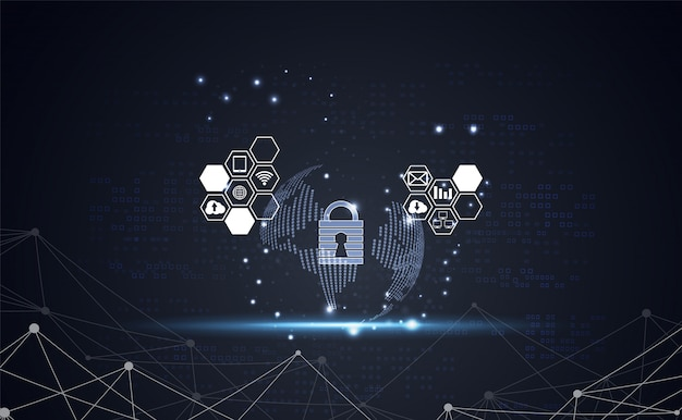 Resumen tecnología mundial seguridad cibernética privacidad fondo información de la red