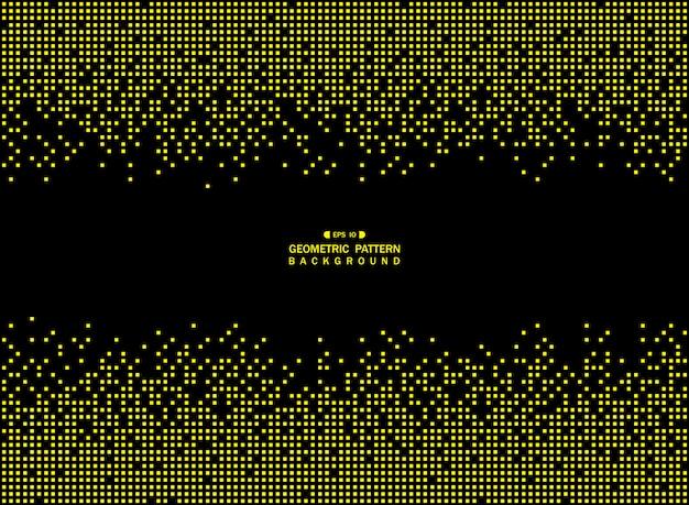 Resumen de tecnología patrón cuadrado geométrico amarillo