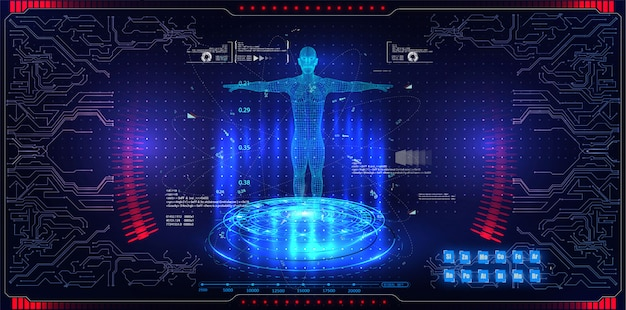 Resumen tecnología ui concepto futurista hud interfaz elementos de holograma