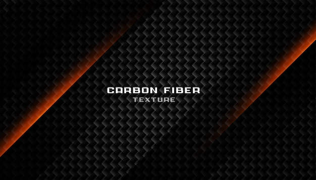 Resumen textura de fibra de carbono negro oscuro