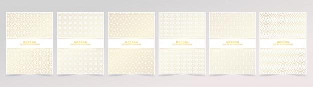 Resumen textura de patrón de color dorado para la portada del libro