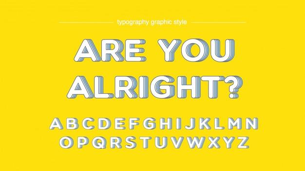Resumen tipografía redondeada estilo gráfico