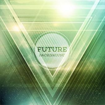 Resumen triángulo futuro vector de fondo