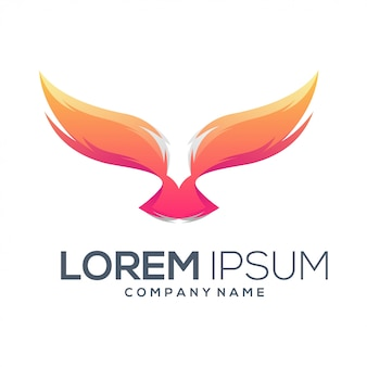 Resumen de vector de diseño de logo de águila